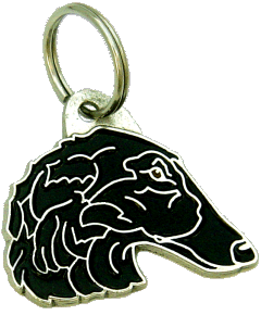 BORZOI BLACK - pet ID tag, dog ID tags, pet tags, personalized pet tags MjavHov - engraved pet tags online